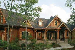 Dream House Plan - Craftsman Exterior - Front Elevation Plan #54-363