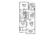 Country Floor Plan - Main Floor Plan Plan #513-2163