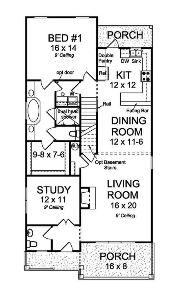 Country Floor Plan - Main Floor Plan Plan #513-2163