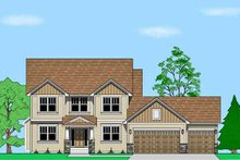 Prairie Exterior - Front Elevation Plan #981-16