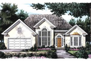 Architectural House Design - Colonial Exterior - Front Elevation Plan #927-65