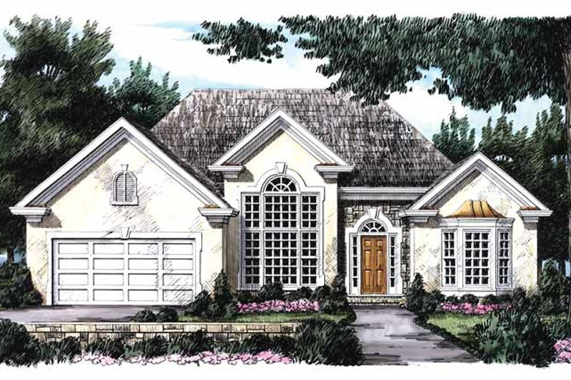 Colonial Exterior - Front Elevation Plan #927-65