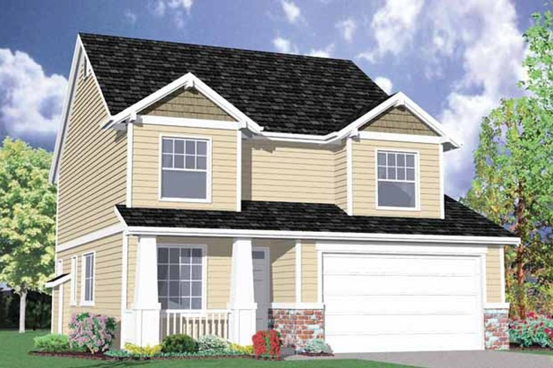 Traditional Exterior - Front Elevation Plan #509-205 - Houseplans.com