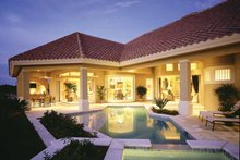 House Plan Design - Mediterranean Exterior - Rear Elevation Plan #930-104