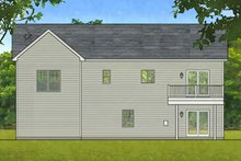 House Plan Design - Contemporary Exterior - Rear Elevation Plan #1010-203