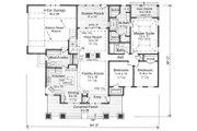 Craftsman Style House Plan - 3 Beds 2 Baths 1866 Sq/Ft Plan #51-514 Floor Plan - Main Floor