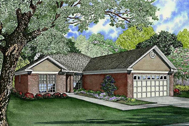 Dream House Plan - Ranch Exterior - Front Elevation Plan #17-3214