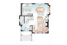 European Floor Plan - Main Floor Plan Plan #23-2490