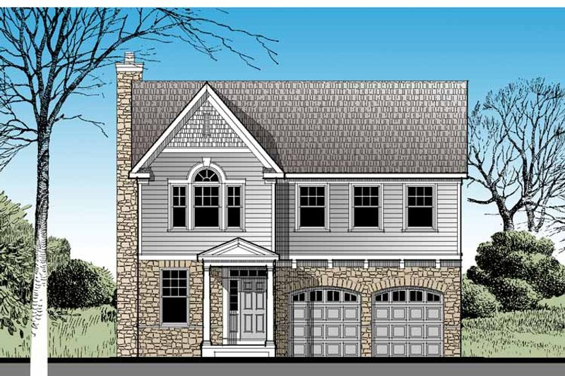 Traditional Exterior - Front Elevation Plan #1029-56 - Houseplans.com