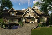 Craftsman Style House Plan - 3 Beds 3 Baths 2177 Sq/Ft Plan #51-571 Exterior - Front Elevation