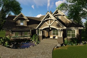 Home Plan - Craftsman Exterior - Front Elevation Plan #51-571