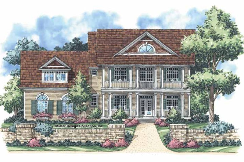 Classical Exterior - Front Elevation Plan #930-250