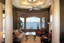 House Plan Design - Mediterranean Interior - Family Room Plan #930-321