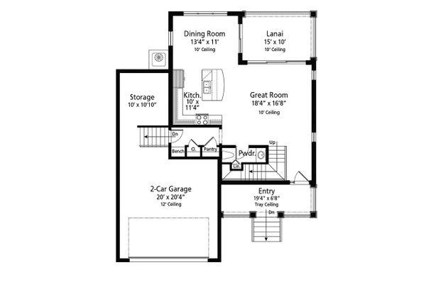Beach Floor Plan - Main Floor Plan Plan #938-108