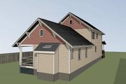 Craftsman Style House Plan - 4 Beds 3.5 Baths 2163 Sq/Ft Plan #79-274 Exterior - Rear Elevation