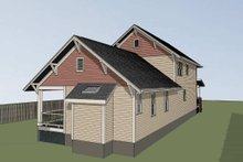 Dream House Plan - Craftsman Exterior - Rear Elevation Plan #79-274