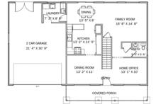 Traditional Floor Plan - Main Floor Plan Plan #1060-33