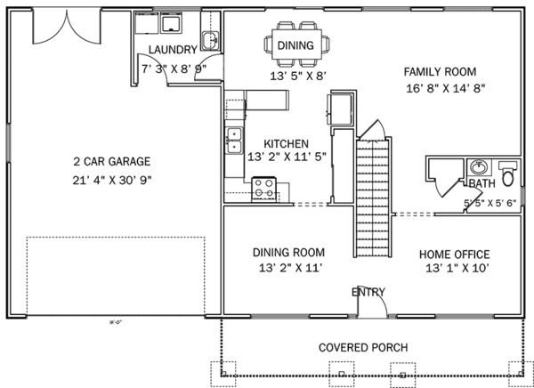 House Plan Design - Traditional Floor Plan - Main Floor Plan #1060-33