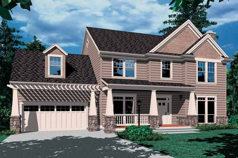 Craftsman Exterior - Front Elevation Plan #48-801 - Houseplans.com