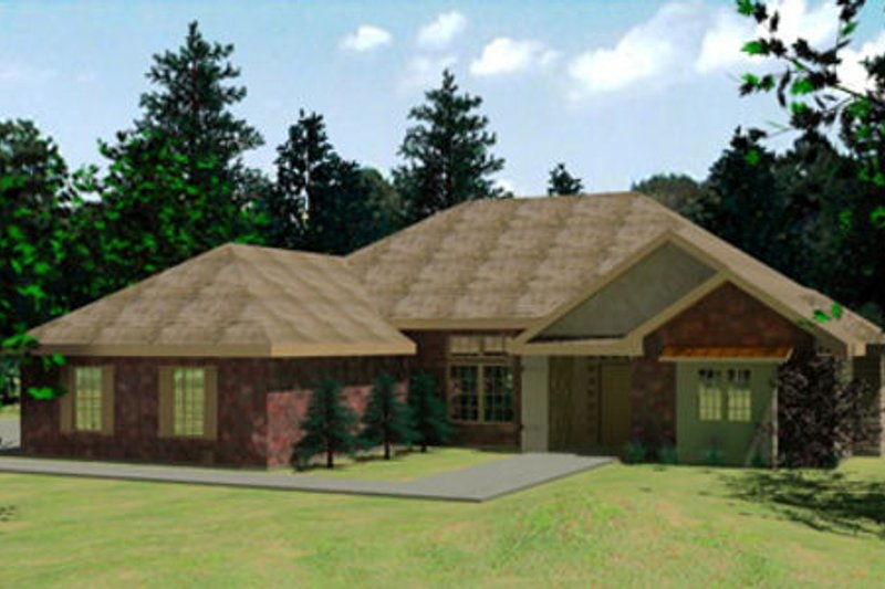 Traditional Style House Plan - 3 Beds 2 Baths 1870 Sq/Ft Plan #31-112 Exterior - Front Elevation