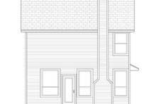 Colonial Exterior - Rear Elevation Plan #84-544
