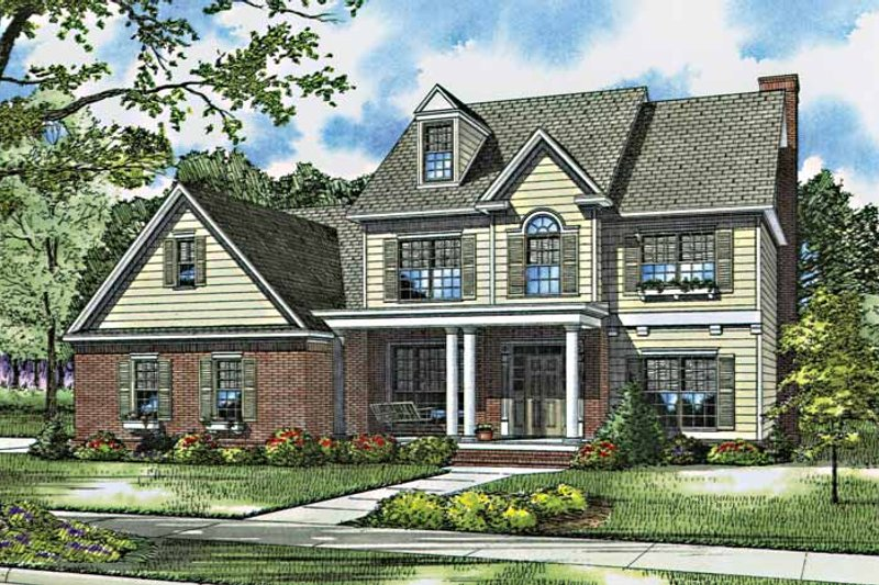 European Exterior - Front Elevation Plan #17-2762