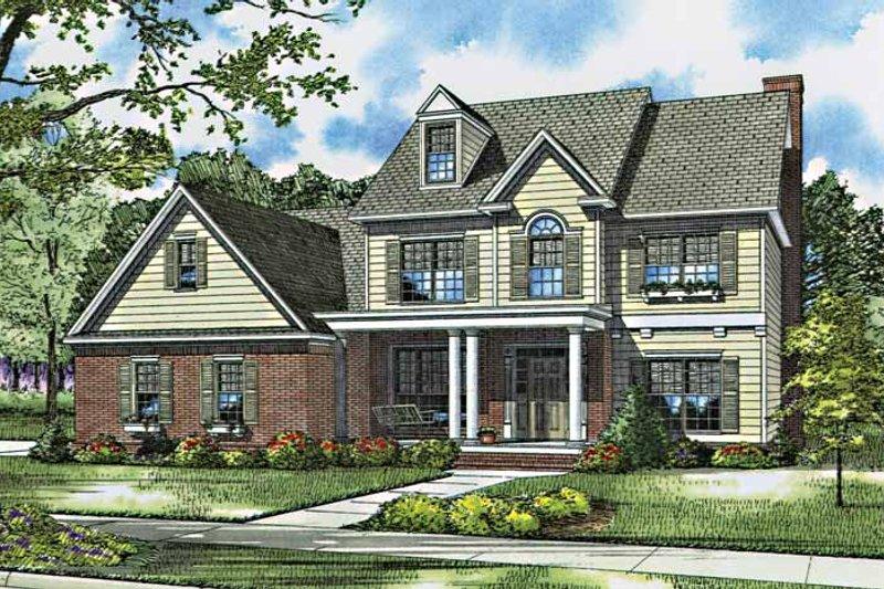 House Plan Design - European Exterior - Front Elevation Plan #17-2762