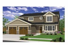 Architectural House Design - Craftsman Exterior - Front Elevation Plan #943-26