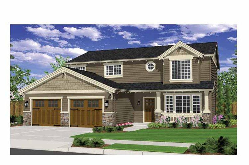 Craftsman Exterior - Front Elevation Plan #943-26 - Houseplans.com