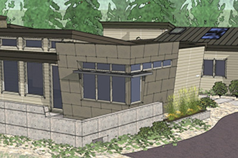 Contemporary Exterior - Other Elevation Plan #892-18 - Houseplans.com