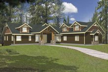 Ranch Exterior - Front Elevation Plan #117-811