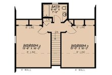 Country Floor Plan - Upper Floor Plan Plan #17-3395