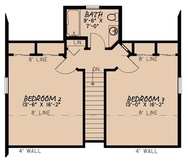 Country Floor Plan - Upper Floor Plan Plan #17-3395