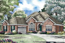 Ranch Exterior - Front Elevation Plan #17-3023