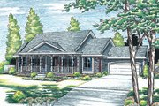 Traditional Style House Plan - 3 Beds 2 Baths 2151 Sq/Ft Plan #20-738 Exterior - Front Elevation