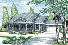 House Design - Traditional Exterior - Front Elevation Plan #20-738