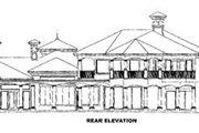 Mediterranean Style House Plan - 5 Beds 5.5 Baths 6649 Sq/Ft Plan #27-215 Exterior - Rear Elevation