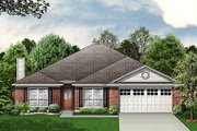European Style House Plan - 4 Beds 2 Baths 2138 Sq/Ft Plan #84-245 Exterior - Front Elevation