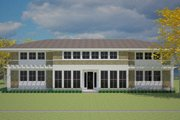 Prairie Style House Plan - 4 Beds 4 Baths 3725 Sq/Ft Plan #481-3 Exterior - Front Elevation