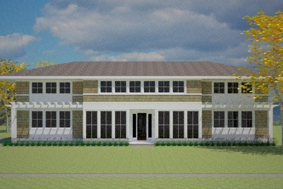 Prairie Exterior - Front Elevation Plan #481-3