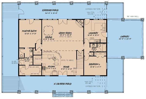 Country Floor Plan - Main Floor Plan Plan #923-126