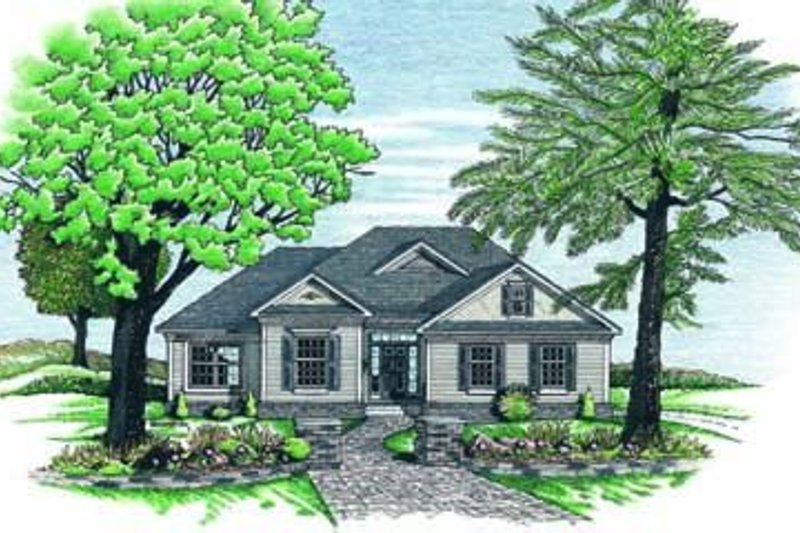 Dream House Plan - Traditional Exterior - Front Elevation Plan #20-477