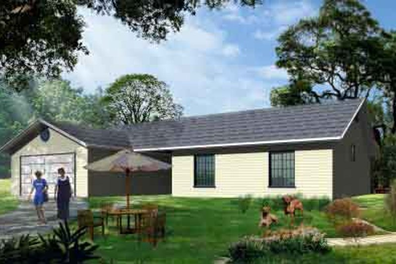 Ranch Style House Plan - 3 Beds 2 Baths 1581 Sq/Ft Plan #1-1137