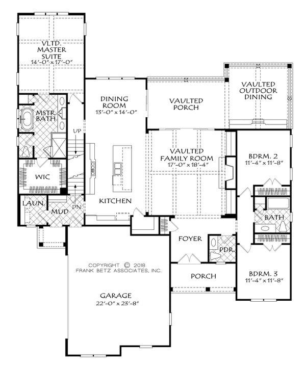 Dream House Plan - Country Floor Plan - Main Floor Plan #927-986