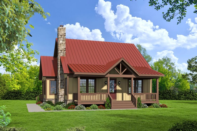 House Blueprint - Traditional Exterior - Front Elevation Plan #932-427