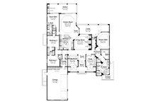 Mediterranean Floor Plan - Main Floor Plan Plan #930-23