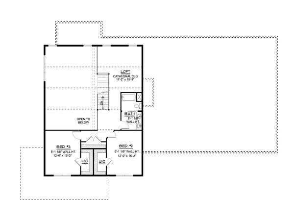 Dream House Plan - Farmhouse Floor Plan - Upper Floor Plan #1064-127