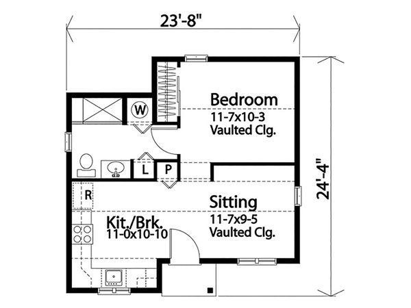 Cottage Floor Plan - Main Floor Plan #22-606