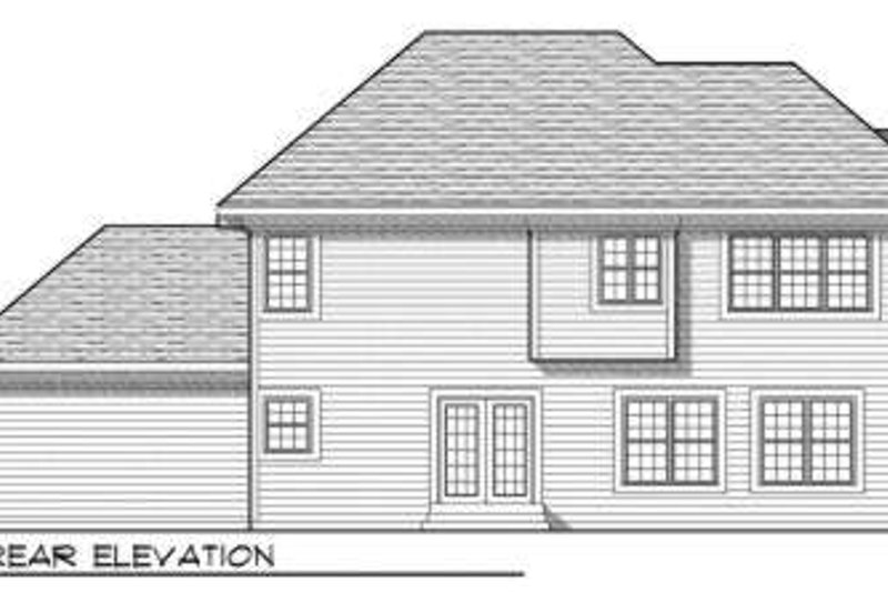 Traditional Exterior - Rear Elevation Plan #70-704 - Houseplans.com