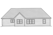 Traditional Style House Plan - 3 Beds 2 Baths 1597 Sq/Ft Plan #46-469 Exterior - Rear Elevation